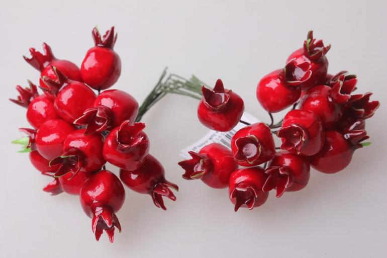 искусственные фрукты шиповник красный 1,5см (12 пучков по 12 шт) искусственные фрукты 7748