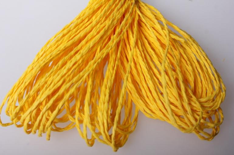шнур бумажный желтый  2мм х 47 м
