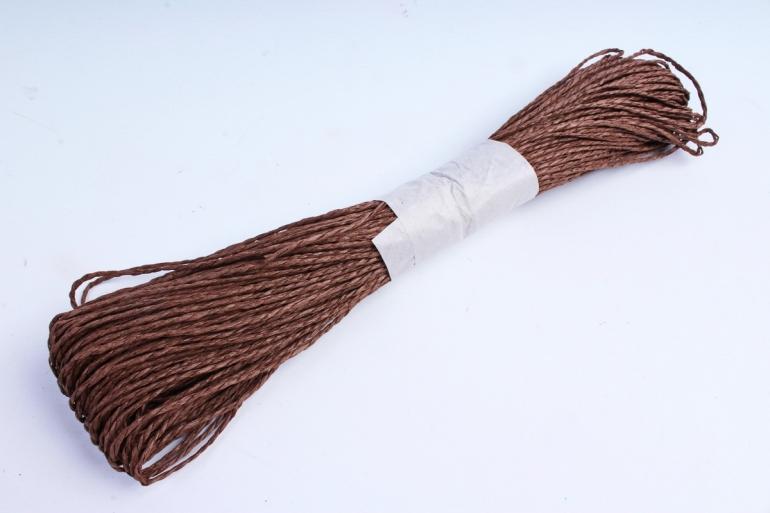 Шнур бумажный коричневый  2мм*47 м  SPG43