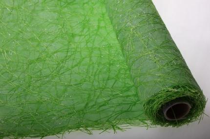 сизаль искусств. 53см*5м сизаль искуст. на цвет. ф. с люриксом (53см 5м) - салатовый 836