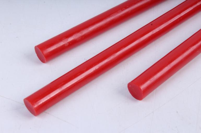 стержень клеевой для термопистолета (d=7мм l=20cм) - красный - поштучно