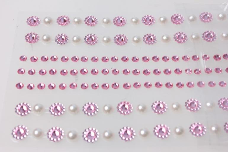 стразы жемчуг розовые на леске 6мм 160шт