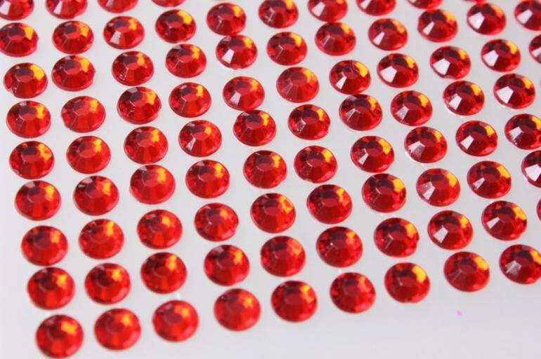 стразы красные граненые 504шт dz483 9064