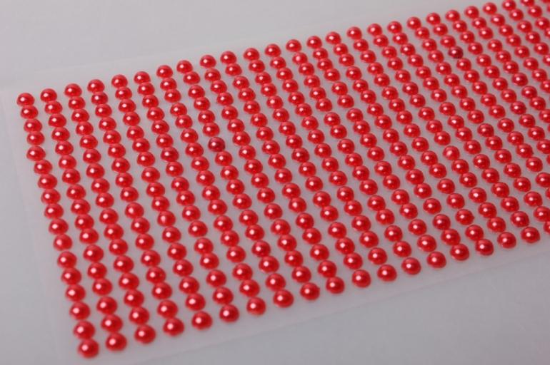 стразы красные на липучке 5мм 646шт  374