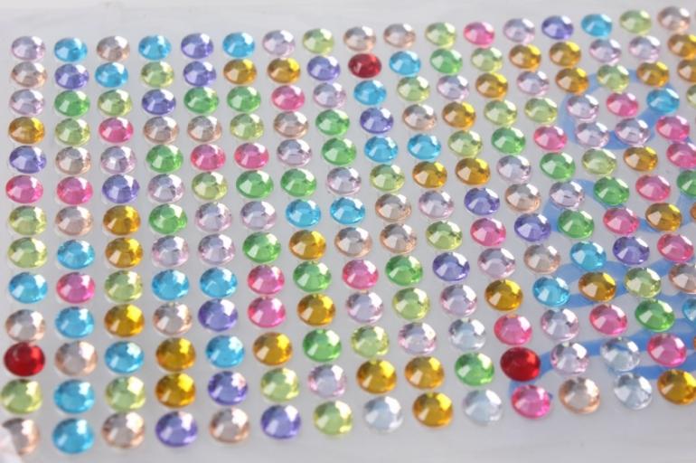 стразы мозаика цветные на липучке 6мм 260шт