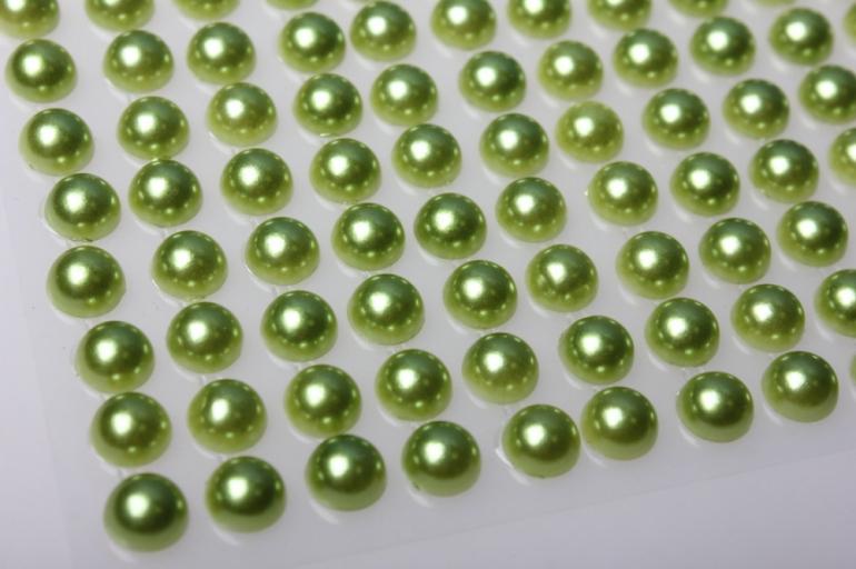 стразы на липучке 8мм оливковые 135шт 7850