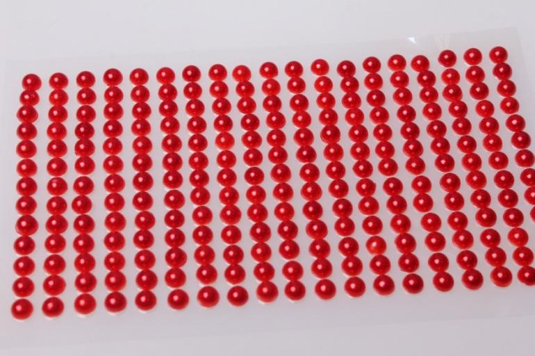 стразы на липучке красные 6мм 247шт 7345