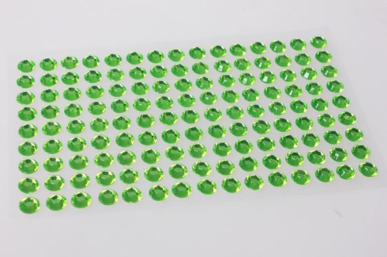 стразы на липучке салатовые 8мм 135шт 7263
