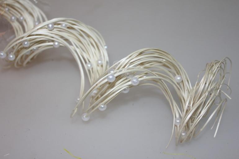 тинги с бусинками 60см сухоцветы 1113 тинги с бусинками 60см (30 шт в упак) - белый 7314