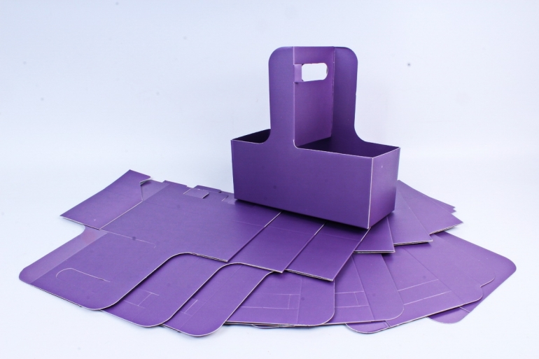 Сумка-корзинка для цветов с ручкой фиолетовая (10шт в уп)  цена за уп  F15