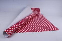бумага глянец  01/033 красные ромбы  68*98см (10 листов)