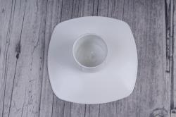 подсвечник квадрат белый  980920