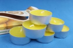 001803 Свеча чайная 12 гр ароматизир. 6шт/уп  лимон