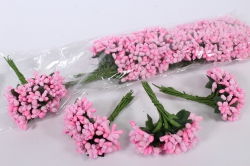 Тычинки сахарные розовые (12 букет. по 12 шт)