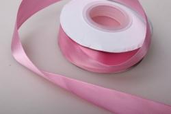 0019 лента атласная 25мм 23м  розовая - китай