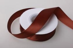 0051 лента атласная 25мм 23м  шоколадная - китай