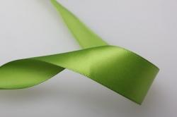 0124 лента атласная 25мм 23м  оливковая - китай