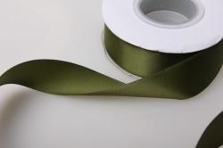0153 лента атласная 25мм 23м  тёмно-зелёная - китай