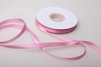 019 лента атласная 9мм 45м  розовая - китай