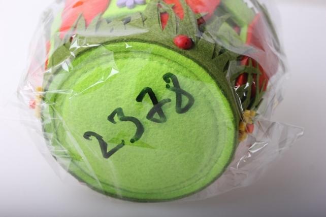 кашпо для цветов 04-2941 кашпо фетр морковь с забором набор (2шт в уп) 2378