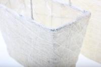 корзины из сизаля 051447 корзины плетеные сумки сизаль набор (2шт) 16х20см - белый 2475