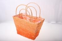 корзины из сизаля 051447 корзины плетеные сумки сизаль набор (2шт) 16х20см - оранжевый 2475