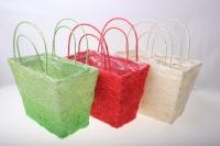 корзины из сизаля 051447 корзины плетеные сумки сизаль набор (2шт) 16х20см - светло-розовый 2475