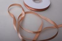 064 лента атласная 9мм 45м  персиковая - китай