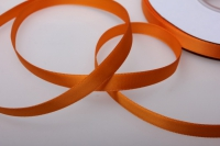 068 лента атласная 9мм 45м  апельсиновая - китай