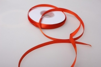 069 лента атласная 9мм 45м  оранжевая - китай