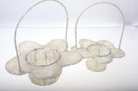 корзины из сизаля 090512 корзины плетеные цветы сизаль набор (2шт) 20х15см - белый 2473