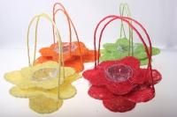 корзины из сизаля 090512 корзины плетеные цветы сизаль набор (2шт) 20х15см - жёлтый 2473