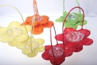 корзины из сизаля 090512 корзины плетеные цветы сизаль набор (2шт) 20х15см - красный 2473
