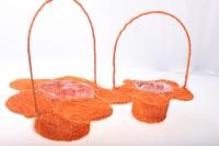 корзины из сизаля 090512 корзины плетеные цветы сизаль набор (2шт) 20х15см - оранжевый 2473