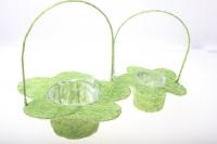 корзины из сизаля 090512 корзины плетеные цветы сизаль набор (2шт) 20х15см - салатовый 2473