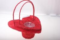 корзины из сизаля 090513 корзины плетеные сердце сизаль набор (2шт) 20х20см - красный 2474