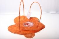 090513 Корзины плетеные Сердце сизаль набор (2шт) 20х20см - Оранжевый