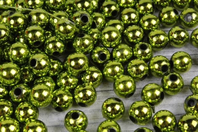 Бусины (А) металл оливковый в пакете 100гр