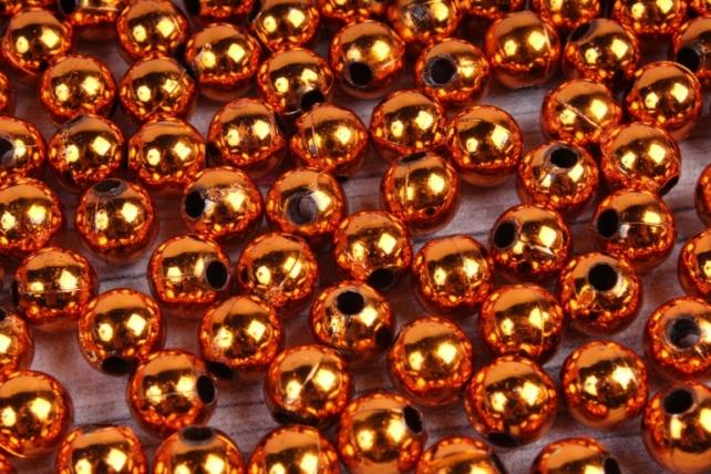 Бусины (А) металл оранжевый в пакете 100гр