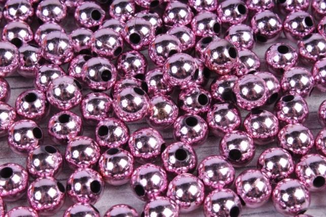 Бусины (А) металл розовый  в пакете 100гр