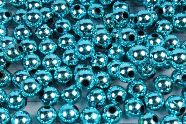 Бусины (А) металл голубой   в пакете 100гр