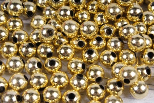 Бусины (А) металл золото   в пакете 100гр