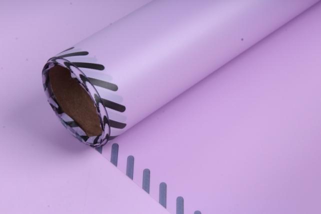 """Упаковочный материал """"Плёнка матовая с каймой"""", 60 см х 5 м Ярко-розовая"""