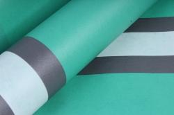 """Упаковочный Материал Ламинированный фетр """"Горизонталь"""" , 60 см х 5 м зеленый"""