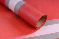 """Упаковочный Материал Ламинированный фетр """"Горизонталь"""" , 60 см х 5 м красный"""
