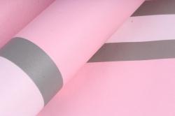 """Упаковочный Материал Ламинированный фетр """"Горизонталь"""" , 60 см х 5 м розовый"""