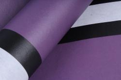 """Упаковочный Материал Ламинированный фетр """"Горизонталь"""" , 60 см х 5 м сливовый"""