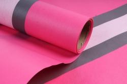 """Упаковочный Материал Ламинированный фетр """"Горизонталь"""" , 60 см х 5 м ярко-розовый"""