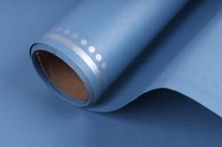 """Упаковочный материал """"Ламинированный фетр с каймой"""", 60 см х 5 м Голубой с белым"""