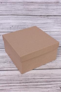 Коробка одиночная подарочная - Квадрат  КРАФТ 20*20*10см   Пин212
